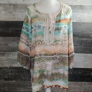 CATHERINES boho print tunic